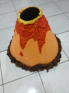 volcano piñata, dinosaur party